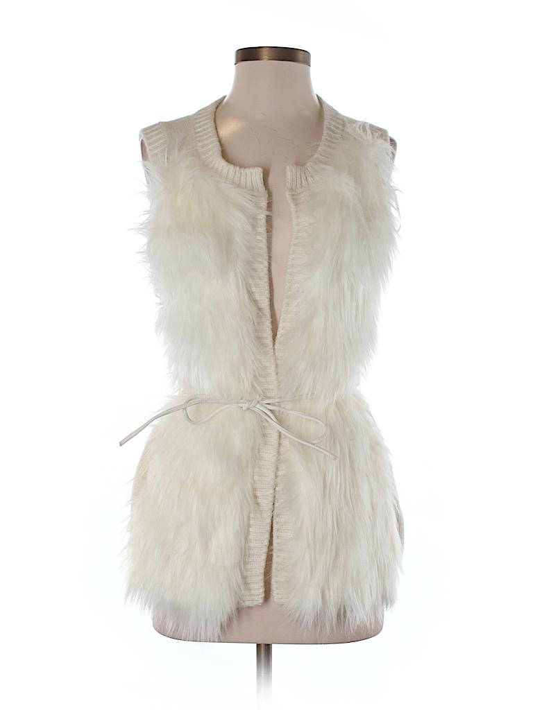 H&M Women Faux Fur Vest Size S