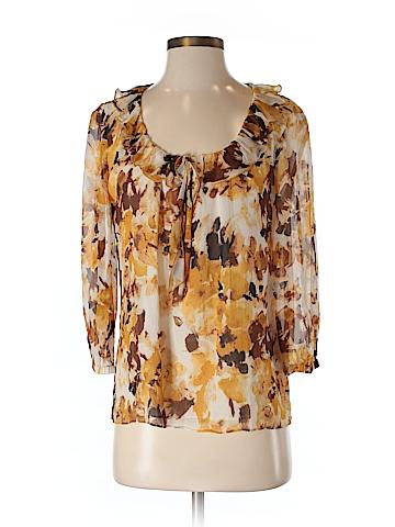 St. John Collection Women 3/4 Sleeve Silk Top Size 8