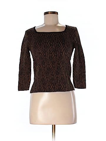 Gianni Women 3/4 Sleeve Silk Top Size M