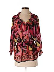 Bisou Bisou Women 3/4 Sleeve Blouse Size S