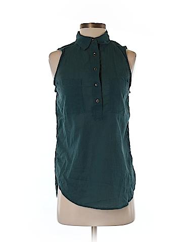 Lou & Grey Sleeveless Button-Down Shirt Size XS