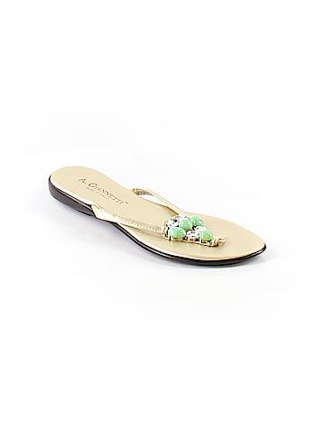 A. Giannetti Flip Flops Size 7