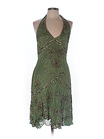 Adrianna Papell Women Silk Dress Size 10 (Petite)
