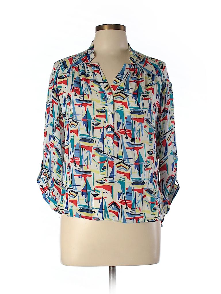 Milly Women 3/4 Sleeve Silk Top Size 6