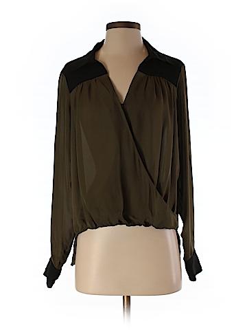 Michael Stars Long Sleeve Silk Top Size XS