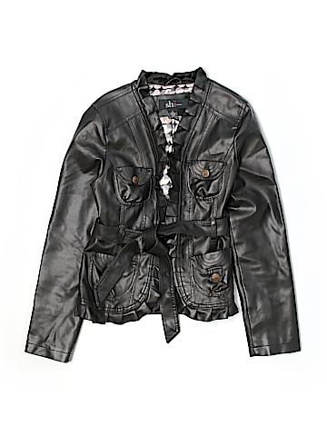 Shi by Journeys Women Faux Leather Jacket Size L