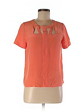 Sandro Short Sleeve Silk Top Size Sm (1)