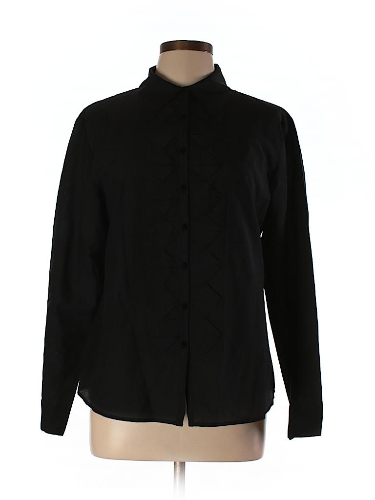 Chico's Women Long Sleeve Button-Down Shirt Size Lg (2)