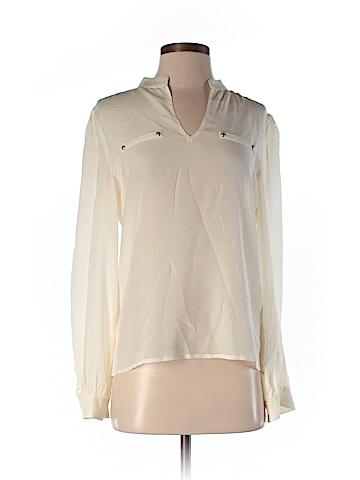 Alex + Alex Long Sleeve Silk Top Size M