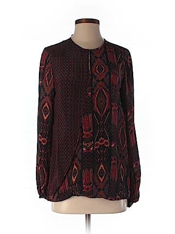 Tolani Long Sleeve Silk Top Size XS