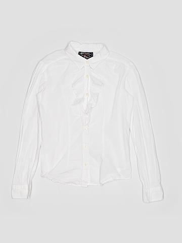 American Living Long Sleeve Button-Down Shirt Size 12-14