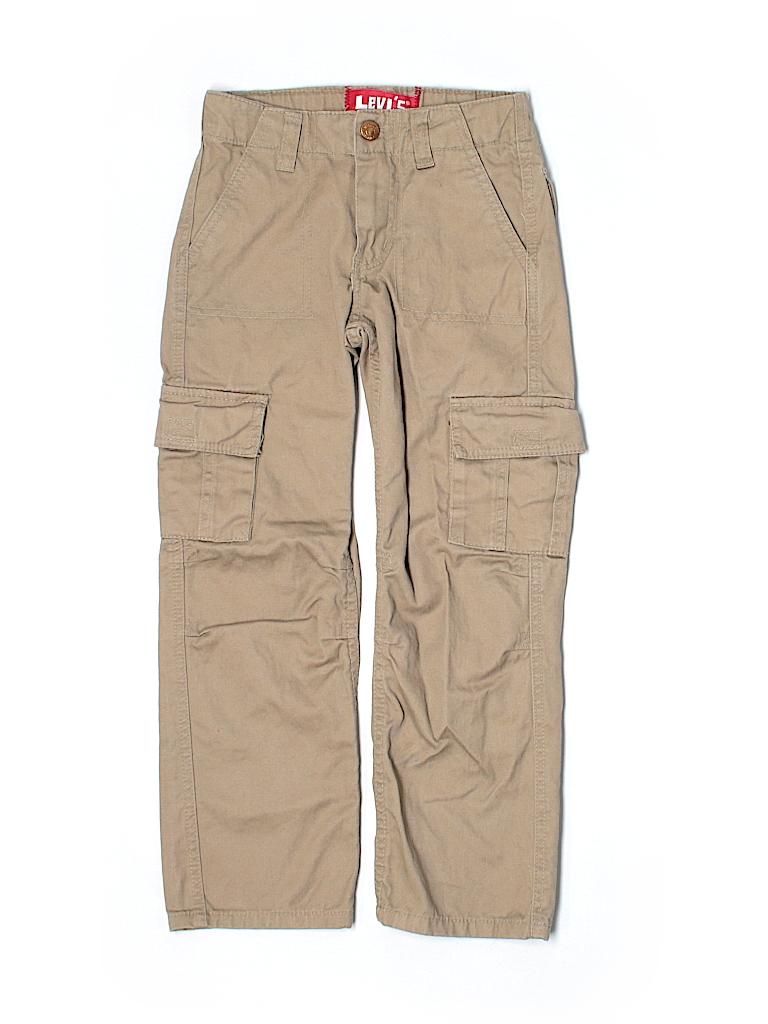 levis solid tan cargo pants size 7 51 off thredup