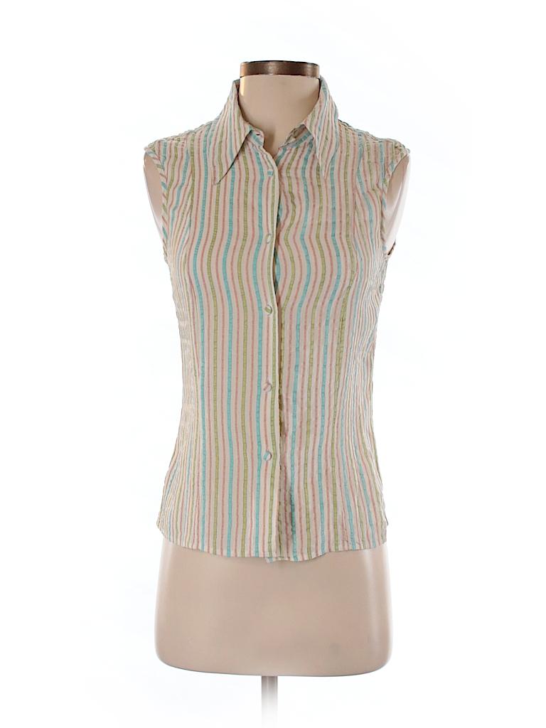 Piazza Sempione Women Sleeveless Silk Top Size 42 (IT)