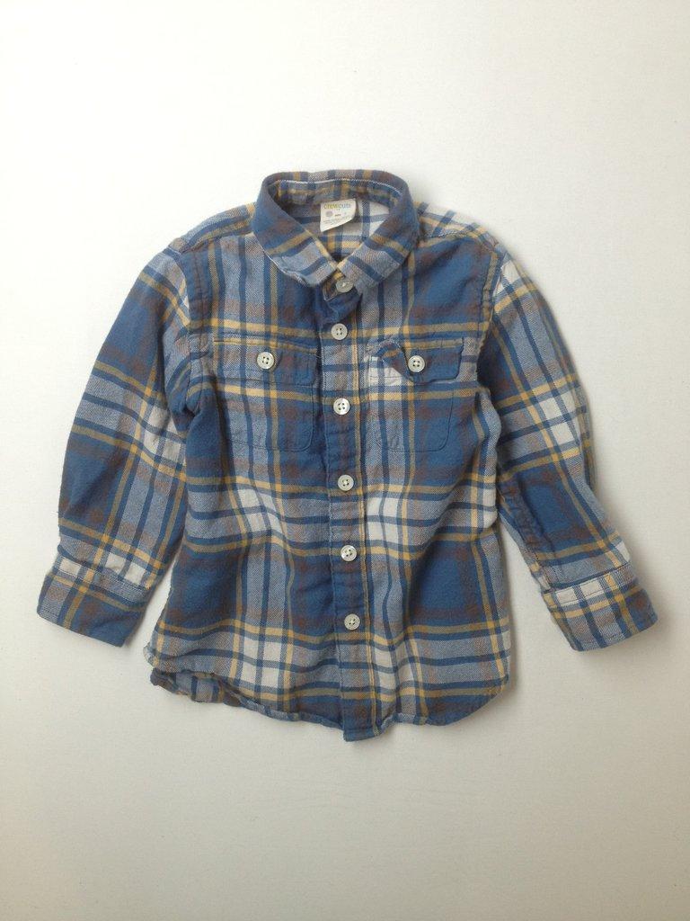 Crewcuts Boys Long Sleeve Button-Down Shirt Size 3