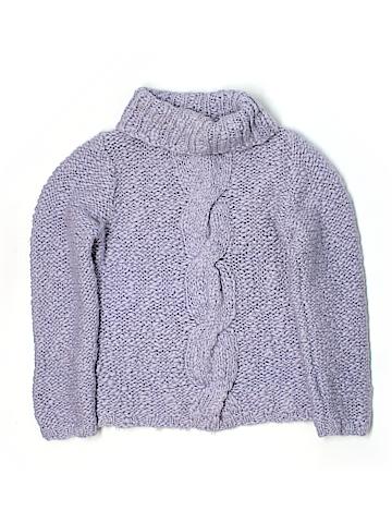 Ivory Women Wool Pullover Sweater Size L