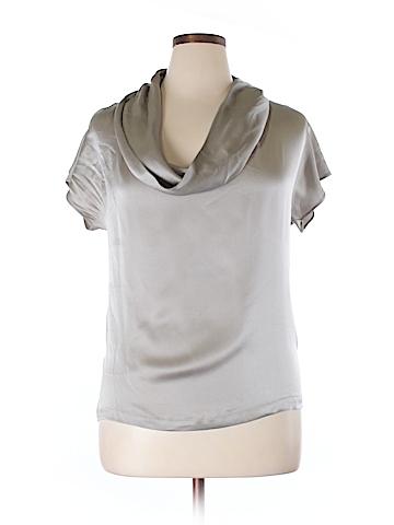 Max Mara Short Sleeve Silk Top Size 14