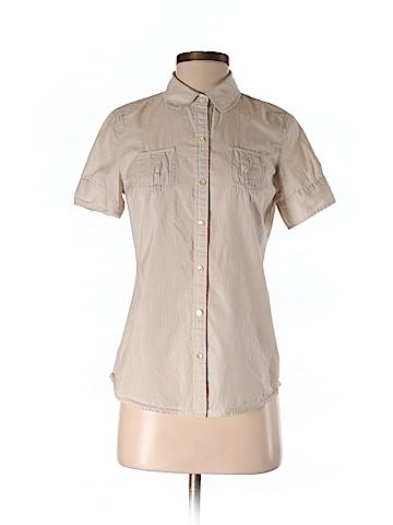 Banana Republic Women Short Sleeve Button-Down Shirt Size S