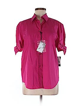Love Moschino Short Sleeve Button-Down Shirt Size 8