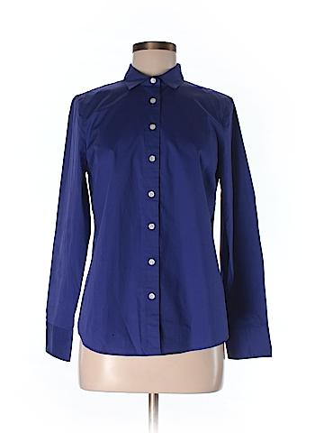 Haberdashery for J. Crew Women Long Sleeve Button-Down Shirt Size M (Petite)