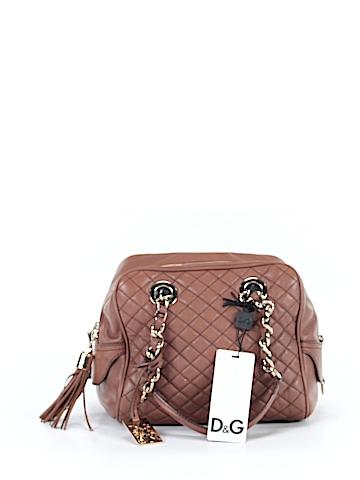 D&G Dolce & Gabbana Leather Satchel One Size