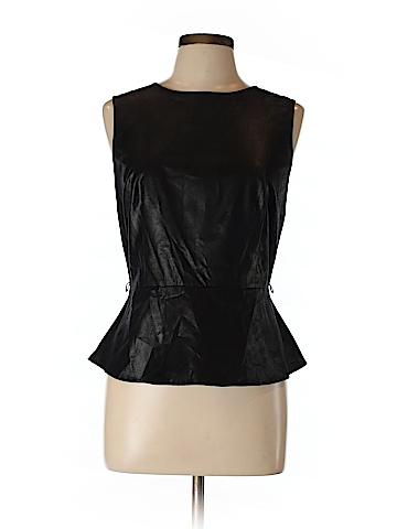 Worthington Faux Leather Top Size L