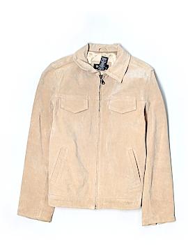 Denim & Co Leather Jacket Size S