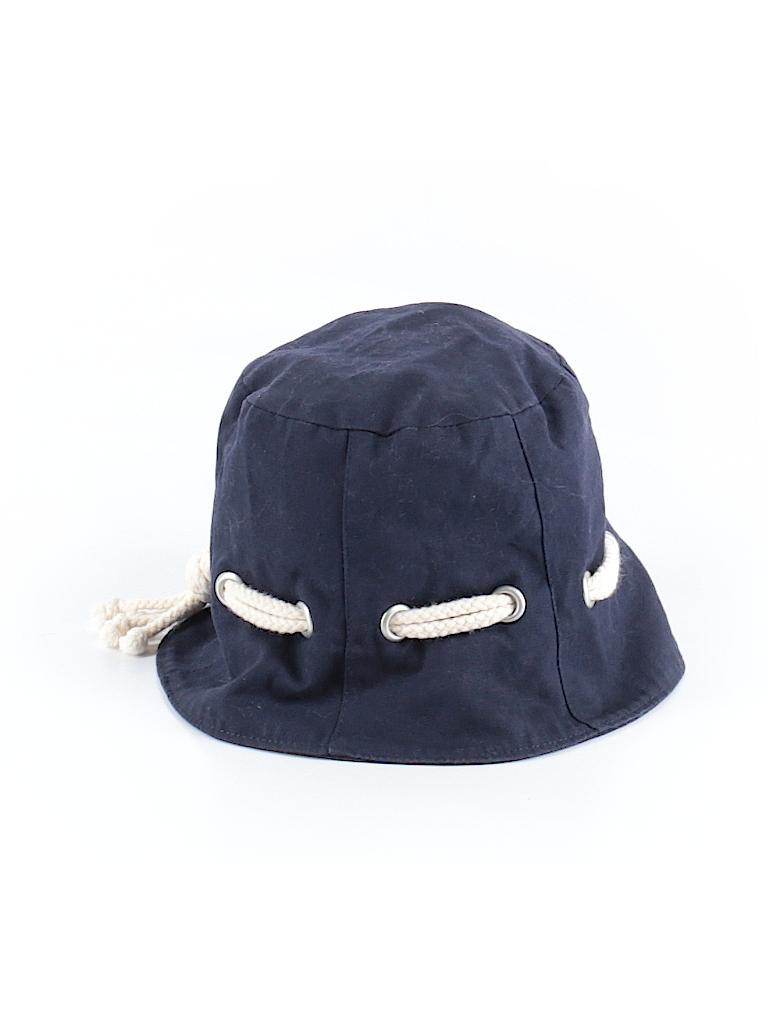 Lands  End 100% Cotton Solid Navy Blue Bucket Hat Size M (Kids) - 50 ... e994596639f