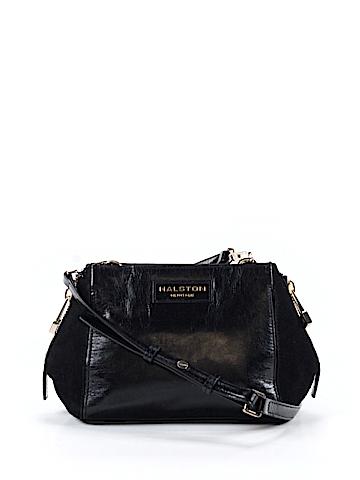 Halston Leather Crossbody Bag One Size