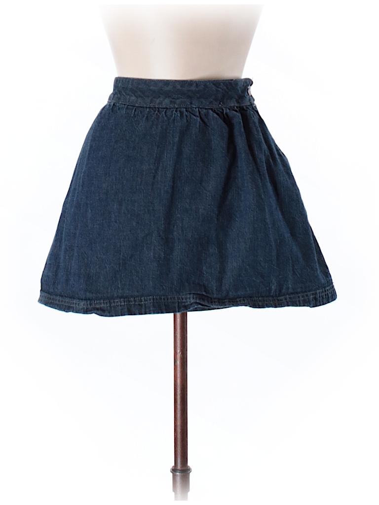Old navy solid navy blue denim skirt size 8 96 off for Denim shirt women old navy