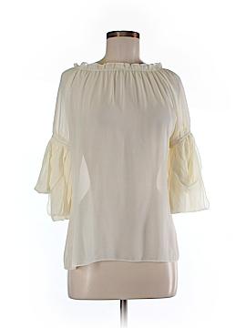 Ya Los Angeles 3/4 Sleeve Silk Top Size M
