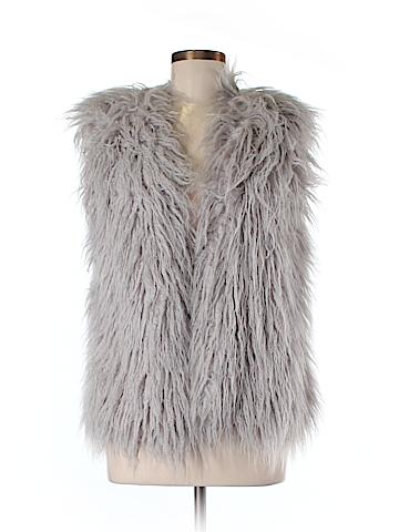 Mink Pink Faux Fur Vest Size S