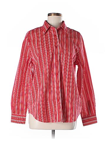 BFA Classics Long Sleeve Button-Down Shirt Size M