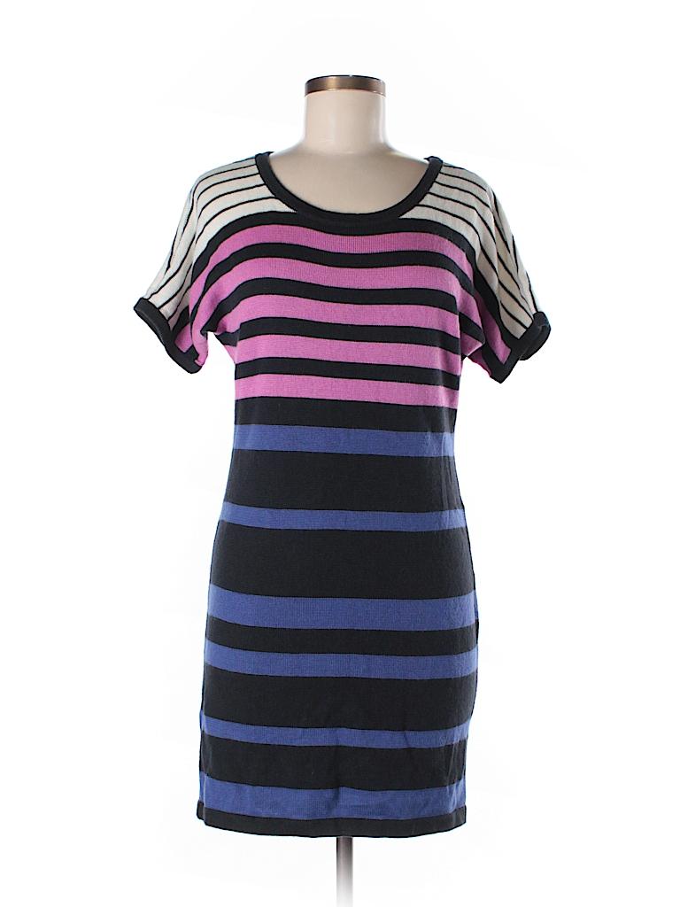 13fdd864678 Ann Taylor LOFT Stripes Dark Blue Sweater Dress Size S - 85% off ...