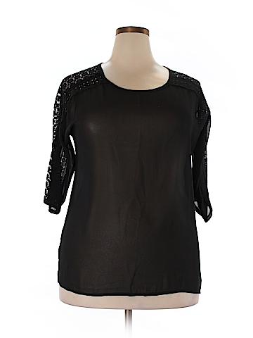 Essentials 3/4 Sleeve Blouse Size 3X (Plus)