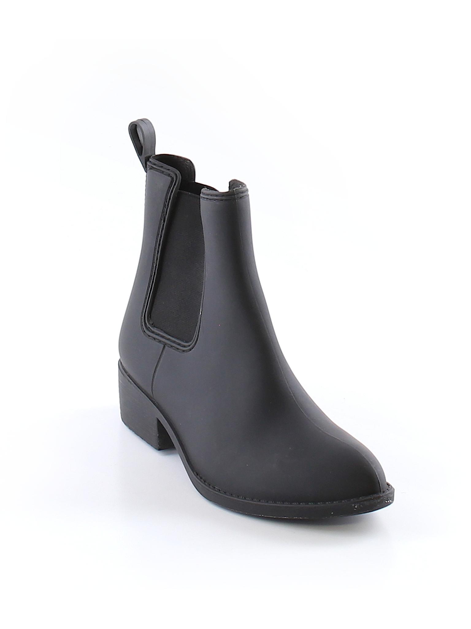 Havana Last Jeffrey Campbell Solid Black Boots Size 9 69