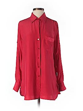 Ellen Tracy Long Sleeve Silk Top Size S