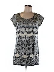 CAbi Women Short Sleeve Silk Top Size M