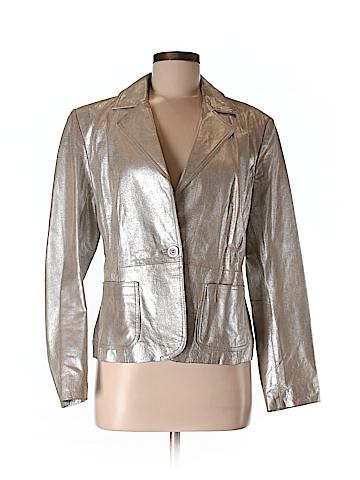 New York & Company Leather Jacket Size 12
