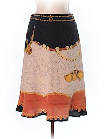 Blue Les Copains Silk Skirt Size 44 (EU)
