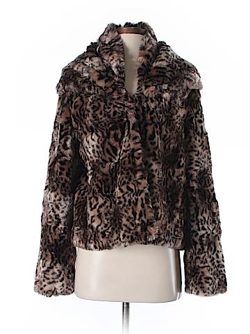 Aqua Faux Fur Jacket Size M