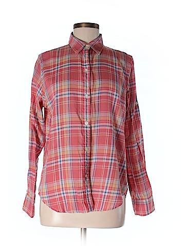 L-RL Lauren Active Ralph Lauren Women Long Sleeve Button-Down Shirt Size M