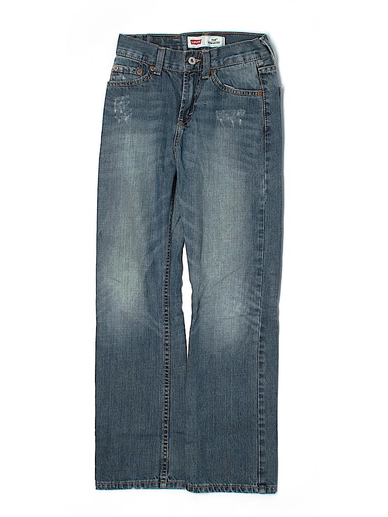 levi 39 s 100 cotton solid navy blue jeans size 12 70 off thredup. Black Bedroom Furniture Sets. Home Design Ideas
