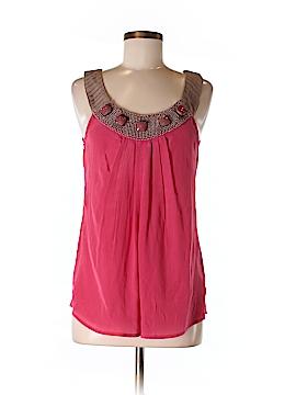 Hannah Jo Sleeveless Silk Top Size S
