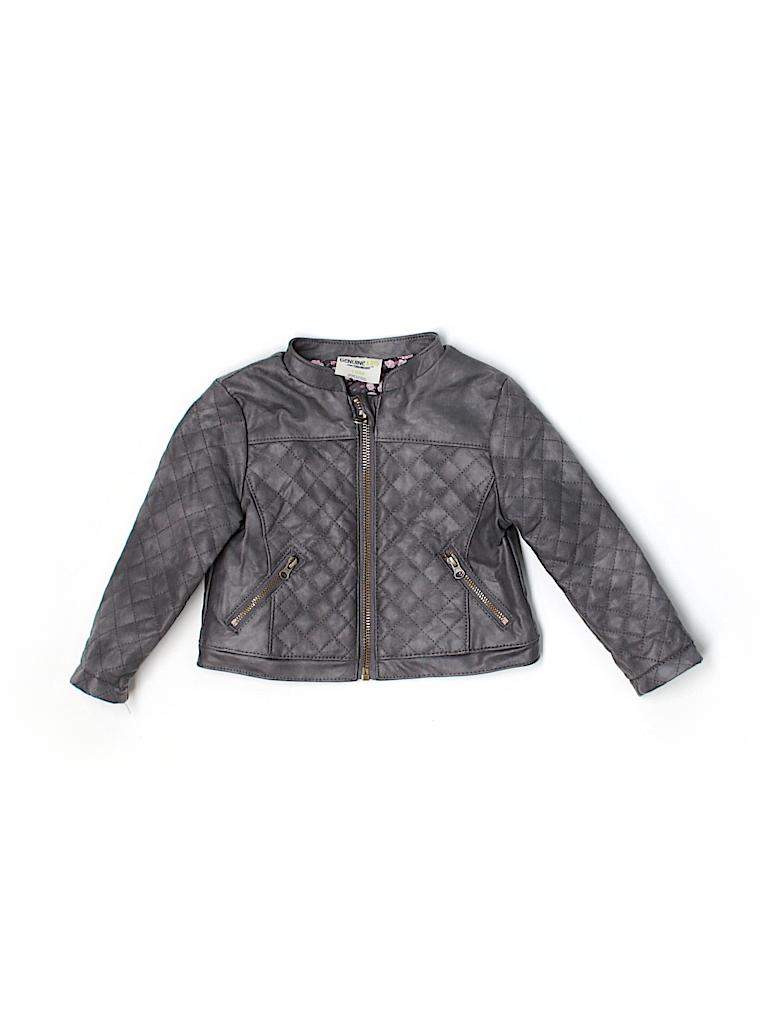 Leather jacket size 18 - Pin It Button Genuine Kids From Oshkosh Girls Faux Leather Jacket Size 18 Mo