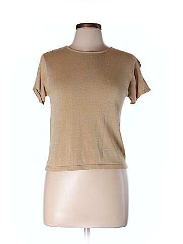 Linda Allard Ellen Tracy Short Sleeve Top Size L (Petite)