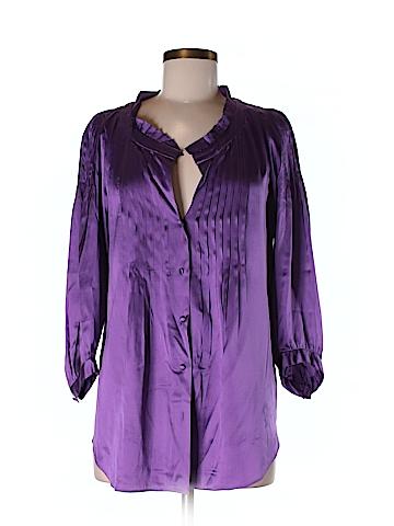 Rebecca Taylor 3/4 Sleeve Silk Top Size 8