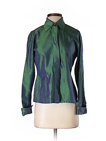 Express Long Sleeve Silk Top Size 3/4