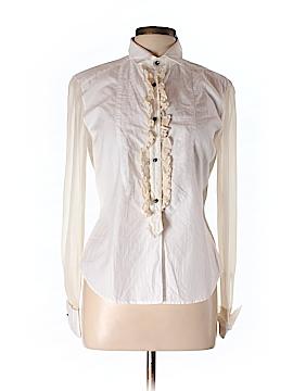 Mattox Long Sleeve Silk Top Size 10