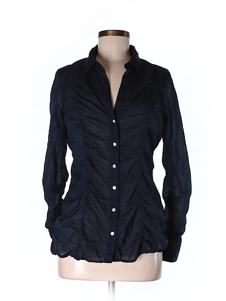 Express Women Long Sleeve Button-Down Shirt Size M