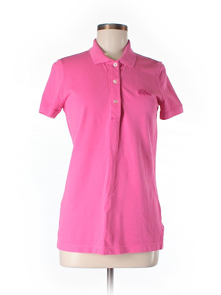 lacoste solid pink short sleeve polo size 40 eu 79 off thredup. Black Bedroom Furniture Sets. Home Design Ideas